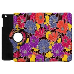 Colorful Floral Pattern Background Apple iPad Mini Flip 360 Case