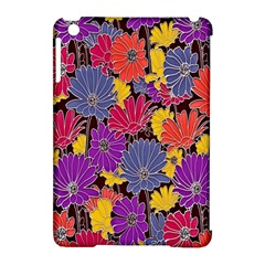 Colorful Floral Pattern Background Apple Ipad Mini Hardshell Case (compatible With Smart Cover)