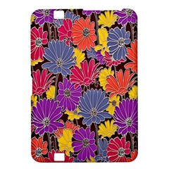 Colorful Floral Pattern Background Kindle Fire Hd 8 9