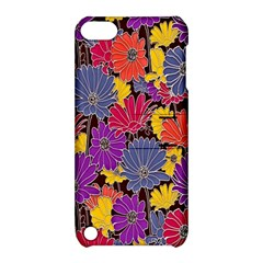 Colorful Floral Pattern Background Apple Ipod Touch 5 Hardshell Case With Stand