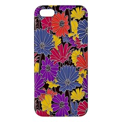 Colorful Floral Pattern Background Apple Iphone 5 Premium Hardshell Case