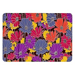 Colorful Floral Pattern Background Samsung Galaxy Tab 8.9  P7300 Flip Case