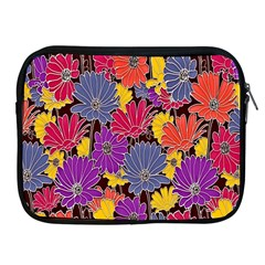 Colorful Floral Pattern Background Apple Ipad 2/3/4 Zipper Cases