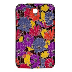 Colorful Floral Pattern Background Samsung Galaxy Tab 3 (7 ) P3200 Hardshell Case
