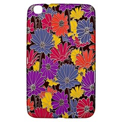 Colorful Floral Pattern Background Samsung Galaxy Tab 3 (8 ) T3100 Hardshell Case