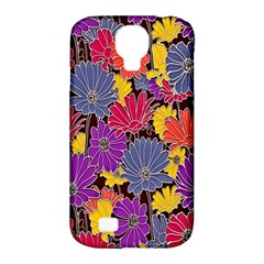 Colorful Floral Pattern Background Samsung Galaxy S4 Classic Hardshell Case (PC+Silicone)