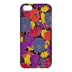 Colorful Floral Pattern Background Apple Iphone 5c Hardshell Case