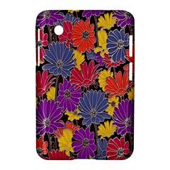 Colorful Floral Pattern Background Samsung Galaxy Tab 2 (7 ) P3100 Hardshell Case