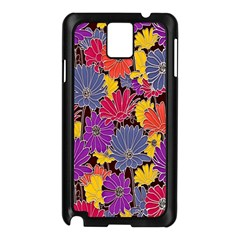 Colorful Floral Pattern Background Samsung Galaxy Note 3 N9005 Case (black)