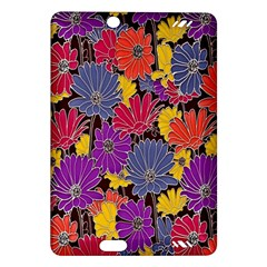 Colorful Floral Pattern Background Amazon Kindle Fire HD (2013) Hardshell Case