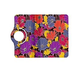 Colorful Floral Pattern Background Kindle Fire HD (2013) Flip 360 Case