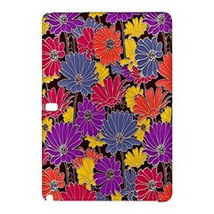Colorful Floral Pattern Background Samsung Galaxy Tab Pro 10.1 Hardshell Case