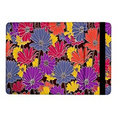 Colorful Floral Pattern Background Samsung Galaxy Tab Pro 10 1  Flip Case
