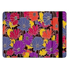 Colorful Floral Pattern Background Samsung Galaxy Tab Pro 12 2  Flip Case
