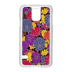 Colorful Floral Pattern Background Samsung Galaxy S5 Case (white)