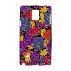 Colorful Floral Pattern Background Samsung Galaxy Note 4 Hardshell Case