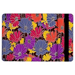 Colorful Floral Pattern Background iPad Air 2 Flip