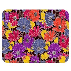 Colorful Floral Pattern Background Double Sided Flano Blanket (Medium)