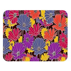 Colorful Floral Pattern Background Double Sided Flano Blanket (Large)