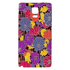 Colorful Floral Pattern Background Galaxy Note 4 Back Case