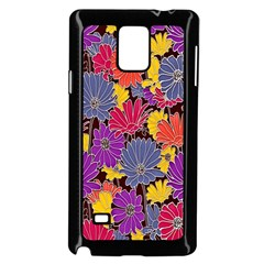 Colorful Floral Pattern Background Samsung Galaxy Note 4 Case (black)