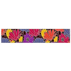 Colorful Floral Pattern Background Flano Scarf (Small)