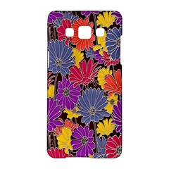 Colorful Floral Pattern Background Samsung Galaxy A5 Hardshell Case