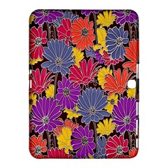 Colorful Floral Pattern Background Samsung Galaxy Tab 4 (10.1 ) Hardshell Case