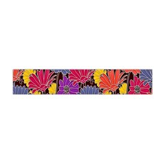 Colorful Floral Pattern Background Flano Scarf (Mini)