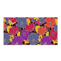 Colorful Floral Pattern Background Satin Wrap