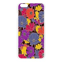 Colorful Floral Pattern Background Apple Seamless iPhone 6 Plus/6S Plus Case (Transparent)