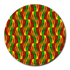 Colorful Wooden Background Pattern Round Mousepads