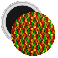 Colorful Wooden Background Pattern 3  Magnets
