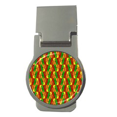Colorful Wooden Background Pattern Money Clips (Round)