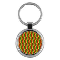 Colorful Wooden Background Pattern Key Chains (Round)