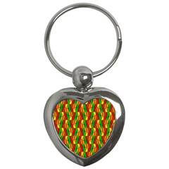 Colorful Wooden Background Pattern Key Chains (heart)