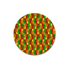 Colorful Wooden Background Pattern Magnet 3  (Round)