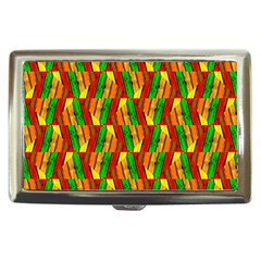 Colorful Wooden Background Pattern Cigarette Money Cases