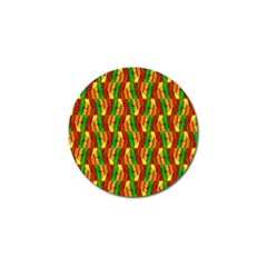 Colorful Wooden Background Pattern Golf Ball Marker