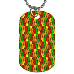 Colorful Wooden Background Pattern Dog Tag (Two Sides)