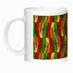 Colorful Wooden Background Pattern Night Luminous Mugs