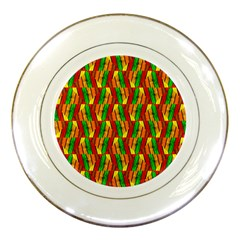 Colorful Wooden Background Pattern Porcelain Plates