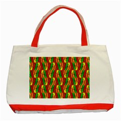 Colorful Wooden Background Pattern Classic Tote Bag (Red)