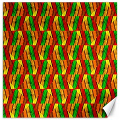 Colorful Wooden Background Pattern Canvas 16  x 16