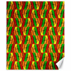Colorful Wooden Background Pattern Canvas 20  X 24