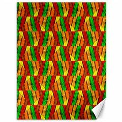 Colorful Wooden Background Pattern Canvas 36  X 48