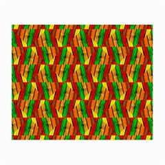 Colorful Wooden Background Pattern Small Glasses Cloth (2-Side)