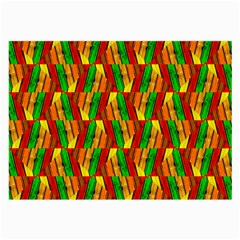 Colorful Wooden Background Pattern Large Glasses Cloth (2 Side)