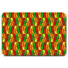 Colorful Wooden Background Pattern Large Doormat