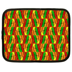 Colorful Wooden Background Pattern Netbook Case (Large)